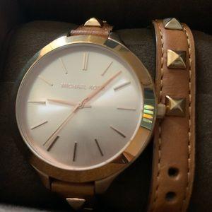 Michael Kors leather watch, women's NEW